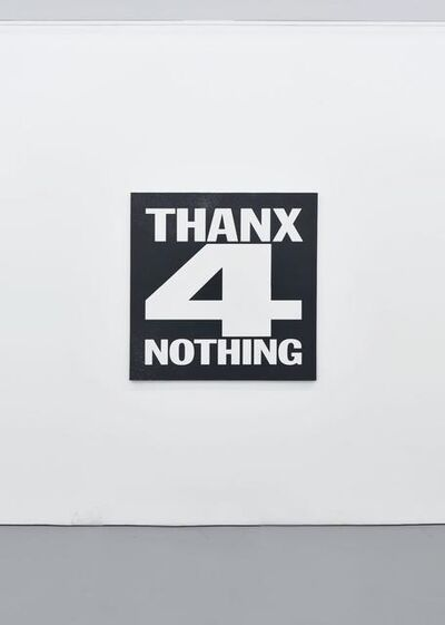 John Giorno, 'THANX FOR NOTHING', 2012
