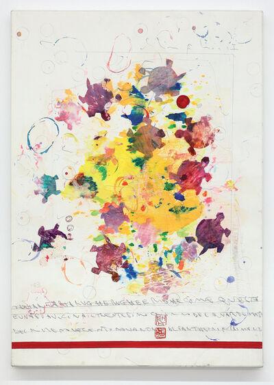 Alighiero Boetti, 'Senza titolo (Tartar tartarughe rughe e righe…)', 1990