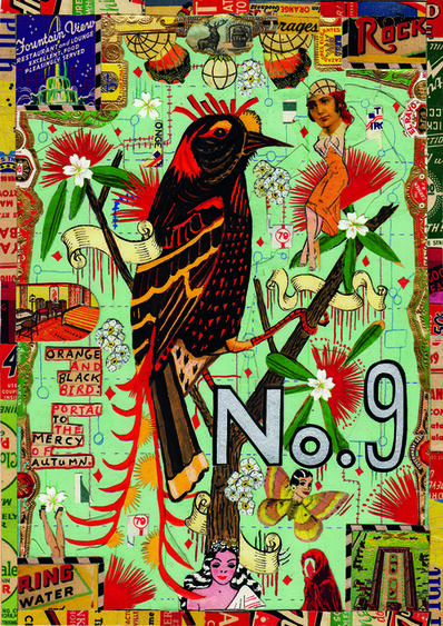Tony Fitzpatrick, 'Orange and Black Bird: Portal to the Mercy of Autumn', 2012