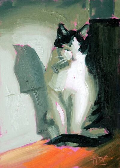 Tracy Wall, 'Zen Kitty (Study)', 2018