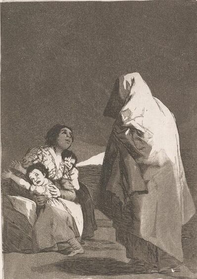 Francisco de Goya, 'Que Viene el Coco (The Bogey-Man is Coming)', 1799