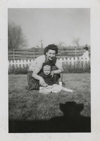 Unknown Artist, 'Untitled [Shadow, mother and baby in the grass]'