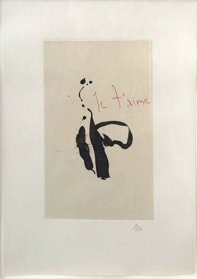 Robert Motherwell, 'Je T'aime, from Three Poems by Octavio Paz', 1987-1988