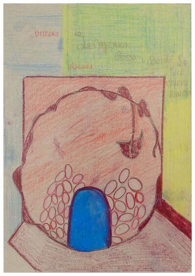 Alessandra Michelangelo, 'Disegno/La caverna Rossa e bordo'/La luce celeste azzurra', 2007