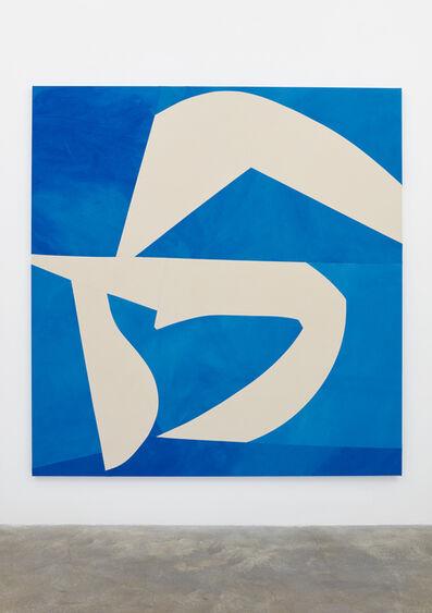 Sarah Crowner, 'Sliced Shapes, Blue Background', 2018