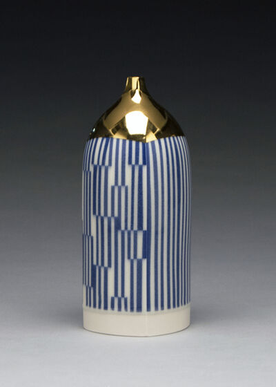 Peter Pincus, 'Blue and Gold Bottle', 2019