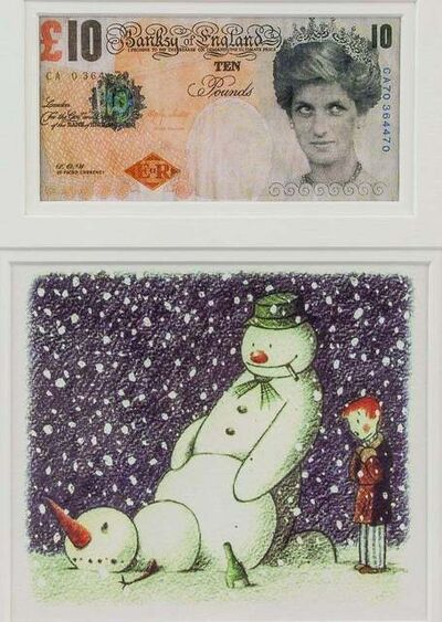 Banksy, 'Di-Faced Tenner and Rude Snowman (Two works)', 2005