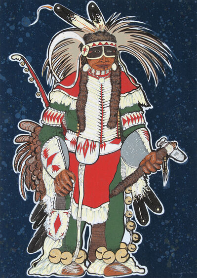 Kevin Red Star, 'Crow Warrior', ca. 1980
