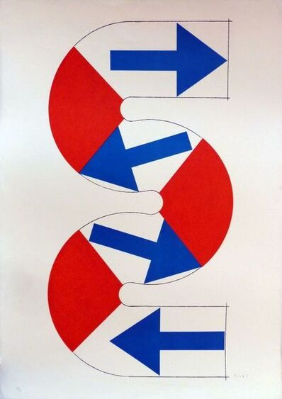 Kumi Sugaï, 'S (blue arrows) ', 1990