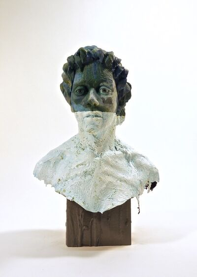 Nicholas Crombach, 'Jade - edgy, rustic, female, figurative, bust, mixed media, narrative sculpture', 2014