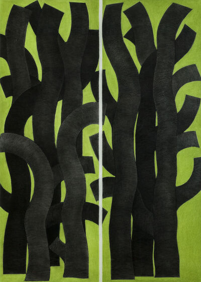 Garo Antreasian, 'Black Trees, Green Ground', 2001