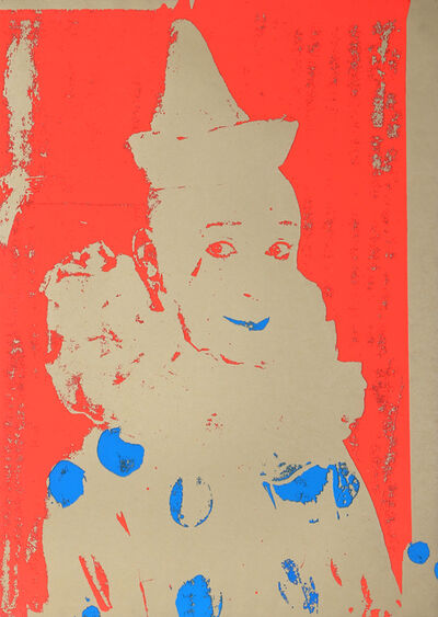 Ford Beckman, 'Neon Clown (Red with Blue)', 1994