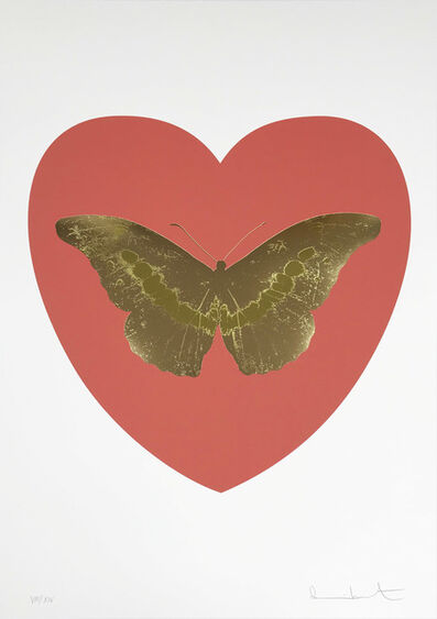 Damien Hirst, 'I Love You - Coral/Cool Gold/Oriental Gold', 2015