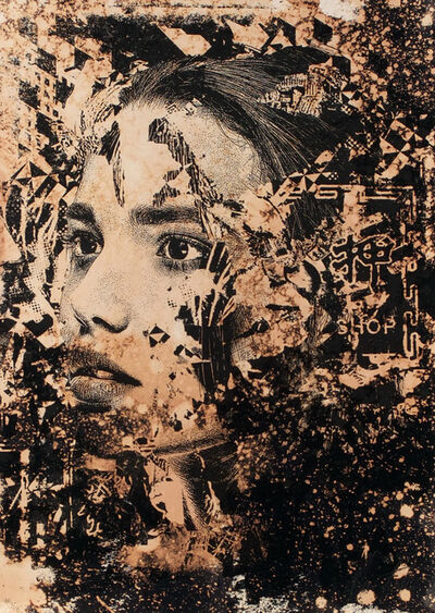 Vhils, 'Subsume 1', 2019