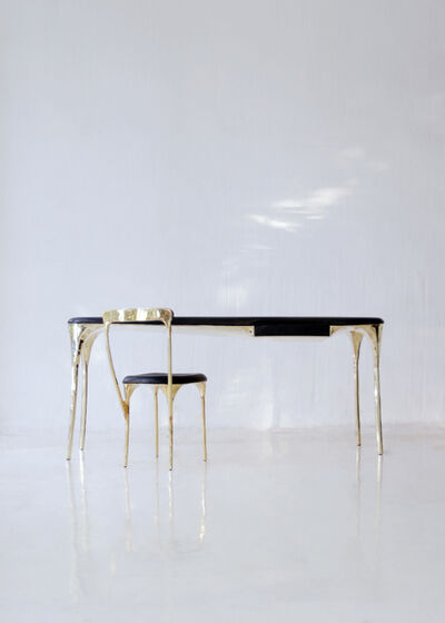 Valentin Loellmann, 'Brass desk table and chair', 2019