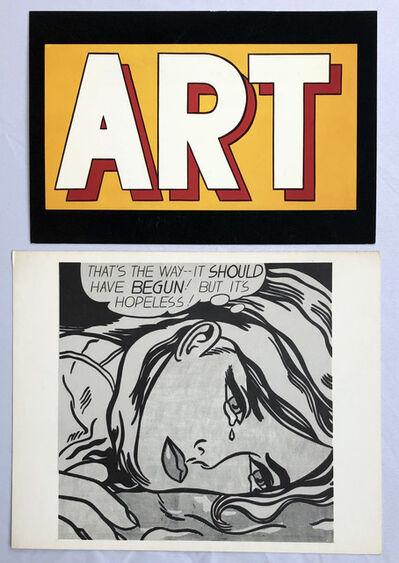 Roy Lichtenstein, 'Roy Lichtenstein vintage announcements (set of 2)', 1987