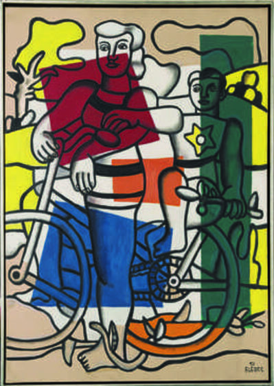 Fernand Léger, 'Les deux cyclistes, la mère et l'enfant (The Two Cyclists, Mother and Child)', 1951