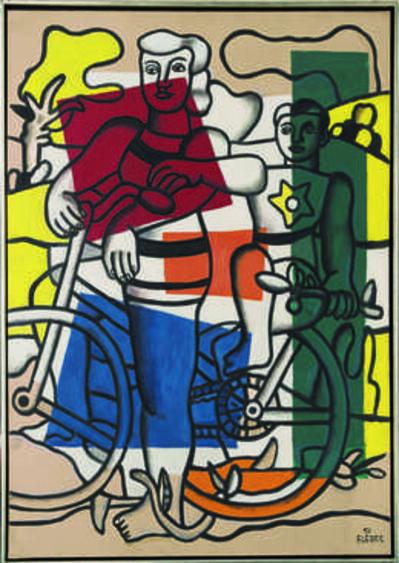 Fernand Léger, 'Les deux cyclistes, la mère et l'enfant (The Two Cyclists, Mother and Child)', 1951