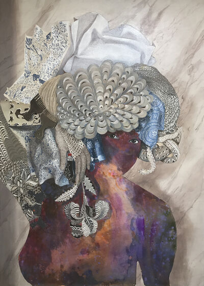 Firelei Báez, 'Josephine Judas GOAT (it does not disturb me to accept that there are places where my identity is obscure to me, and the fact that it amazes you does not mean I relinquish it)', 2017