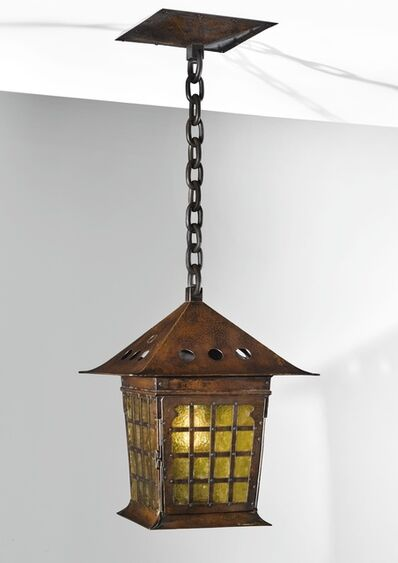 Gustav Stickley, 'A Rare Lantern, Model No. 203, Variant', circa 1903