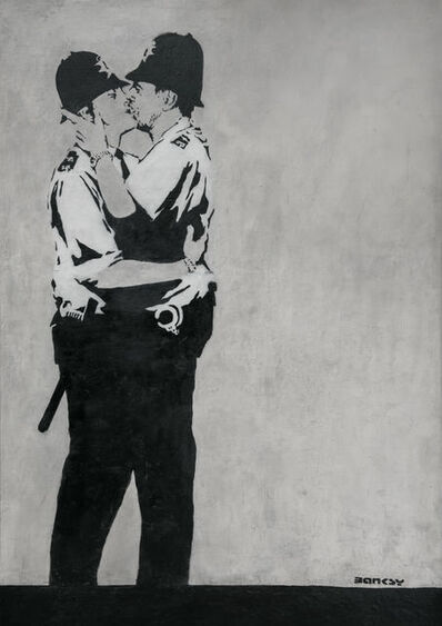 Banksy, 'The Kissing Coppers, Brighton', ca. 2005