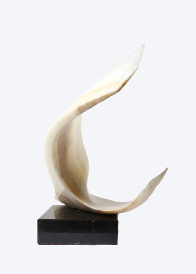 Leonardo Nierman, 'Wide White Onyx Sculpture on Base', circa 1979