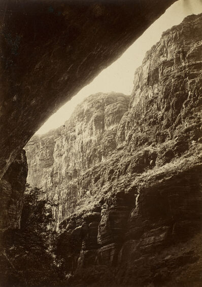 William H. Bell, 'Cañon of Kanab Wash, Looking South', 1872