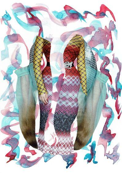 Laura Dunkin-Hubby, 'Dark Pink & Aqua', 2017