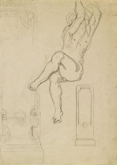 Eugène Delacroix, 'Études d'apres Michelange.', circa 1830