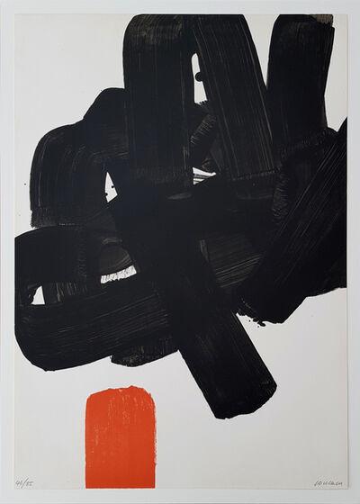 Pierre Soulages, 'Lithographie n° 24b (variante avec rouge)', 1969