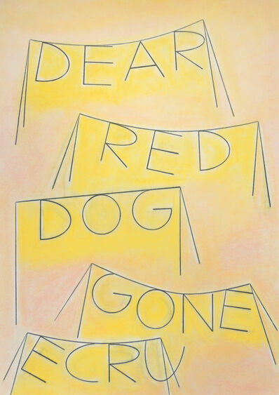 Honza Zamojski, 'Dear Red Dog Gone Ecru', 2019