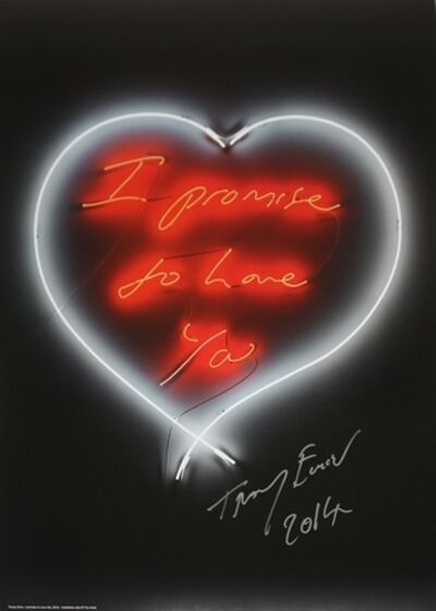 "Tracey Emin, 'TRACEY EMIN ""I PROMISE TO ALWAYS LOVE YOU"" RED NEON HEART', 2014"