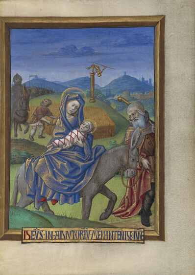 Georges Trubert, 'The Flight into Egypt', 1480-1490