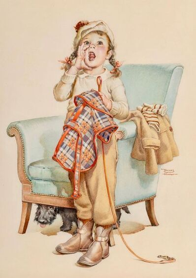 Frances Tipton Hunter, 'He Already Went, Saturday Evening Post Cover, December 1936', 1936