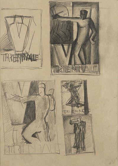 Mario Sironi, 'Studio per manifesto della V Triennale, s.d, inzio anni '30'