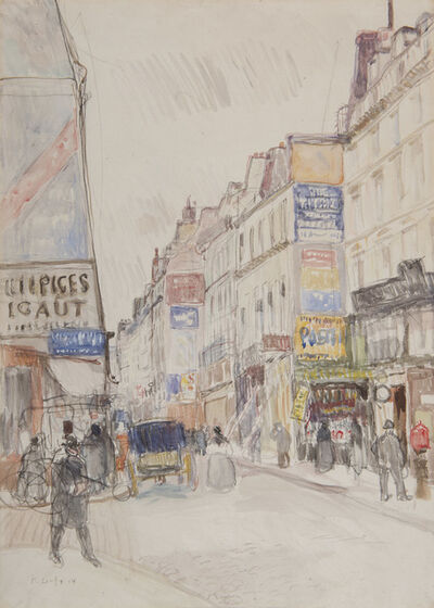 Raoul Dufy, 'La rue Vieille du Temple à Paris', ca. 1904