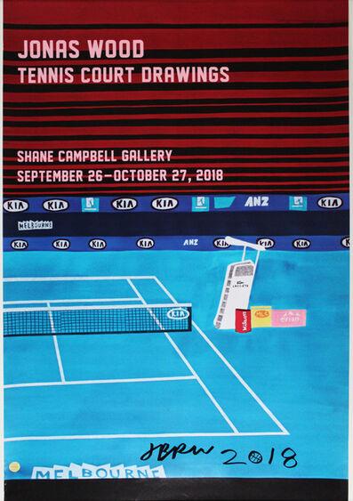 Jonas Wood, 'Tennis Court Drawings (SIGNED)', 2018