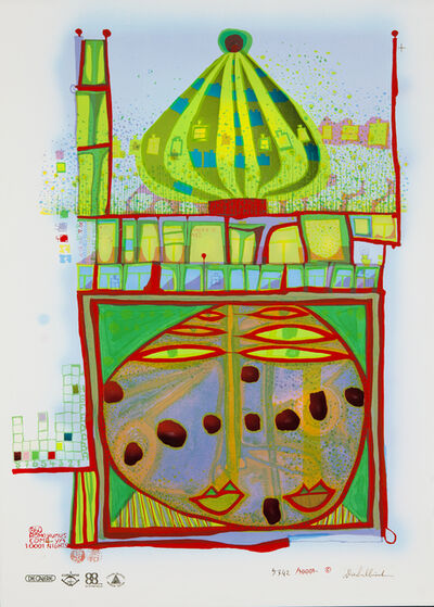 Friedensreich Hundertwasser, '10002 Nights Homo Humus Come Va How Do You Do', 1982-1984