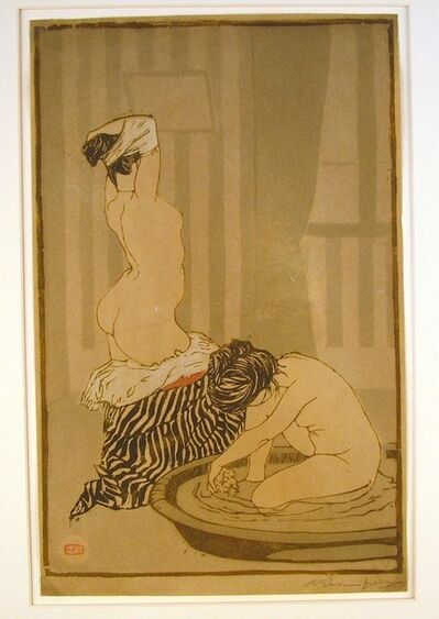 Adolphe-Marie Beaufrere, 'Femmes au Tub (Women Bathing)', ca. 1897