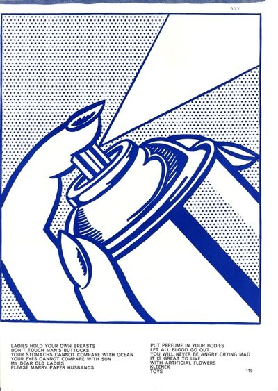 Roy Lichtenstein, 'Spray Can', 1964