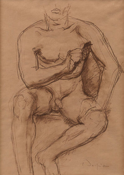 Charles Despiau, 'Seated Male Nude (Study for Monument to Emil Mayrisch', 1932