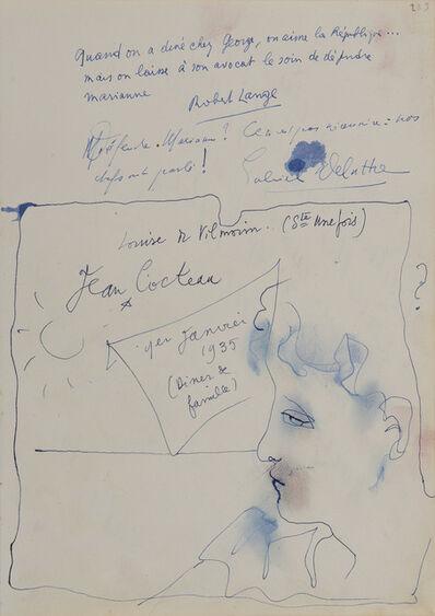 Jean Cocteau, 'Portrait d'homme de profil', 1935