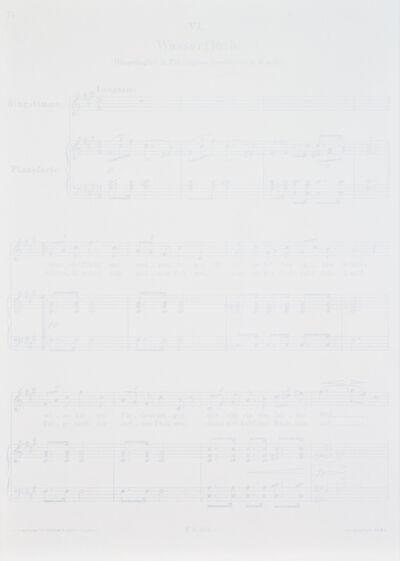 Tim Rollins and K.O.S., 'Winterreise - Wasserfluth', 1989