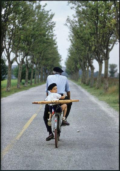 Elliott Erwitt, 'Provence, France (Boy, bicycle & baguette)', 1955