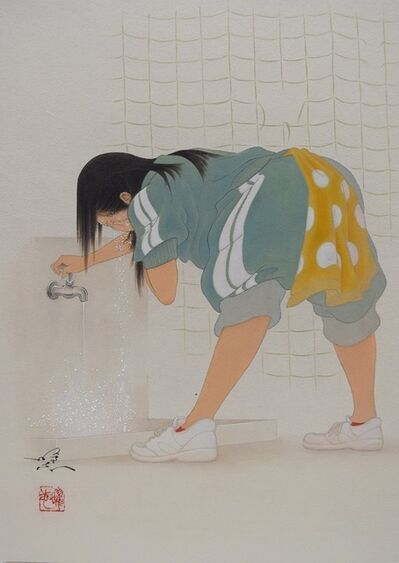 Yoji Kumagai, 'A girl washing her face', 2017