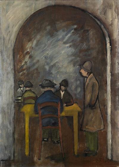 Ottone Rosai, 'Interno con figure', 1950 ca.