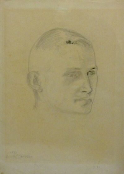Paul Citroen, 'Portrait of Georg Muche', 1921