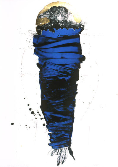 Rick Bartow, 'Rutgers Raven Bundle, Blue', 2001-2005