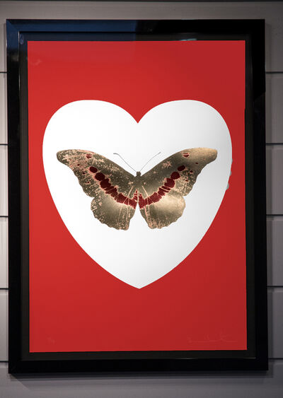 Damien Hirst, 'I Love You, Butterfly, Red, Gold, & White', 2015