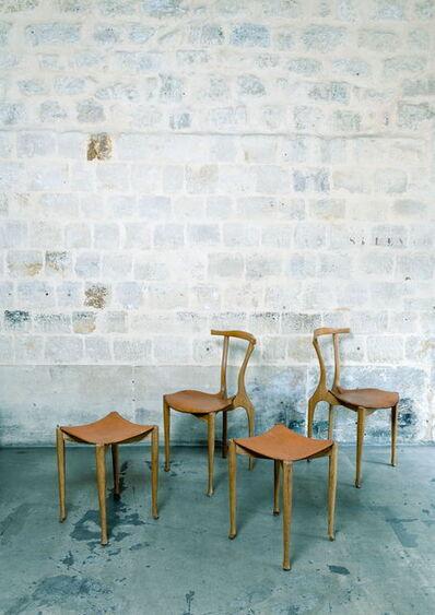 Óscar Tusquets Blanca, 'Gaulino Deux chaises et deux tabourets', vers 1980